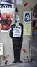Alfred Hitchcock stencil graffiti