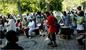 Drummers in Marcus Garvey Park in New York City. T