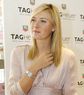 Maria Sharapova presented her TAG Heuer watch
