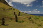Outer slope of the Rano Raraku volcano, the quarry
