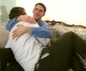 Richard Cohen holds another guy - but its not gay