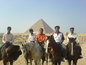 With pyramids in egypt 2007