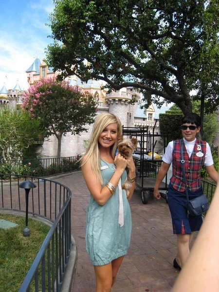 Ashley Tisdale in Disney Land