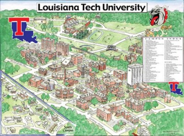 Louisiana Tech Campus Map Pictures
