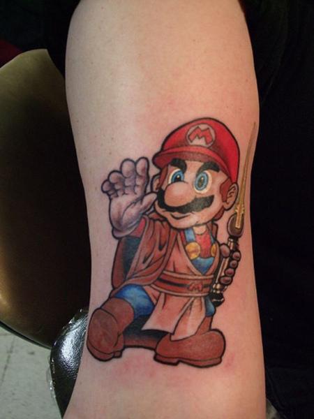 Mario Jedi Tattoo