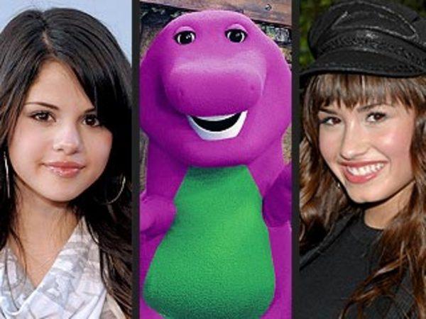 Selena, Demi and Barney