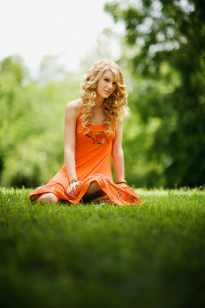 Taylor Swift in Orange Dress