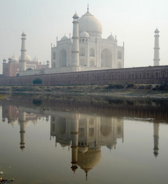 The Taj Mahal, from the N. bank of Yamuna river