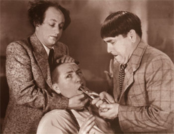 larry moe and curley He was replacing his older brother, shemp, as the third stooge, joining his older  brother moe and frizzly haired larry fine in 1934, the team signed with.